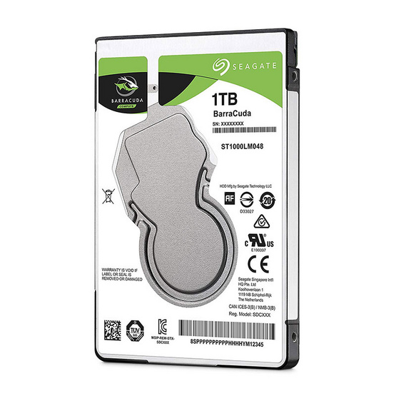 "Seagate BaraCuda Mobile HDD 2.5"" 5400 RPM 128MB SATA 6GB/s (ST1000LM048) 1TB"