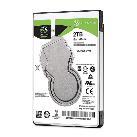 "Seagate BaraCuda Mobile HDD 2.5"" 5400 RPM 128MB SATA 6GB/s (ST2000LM015) 2TB"