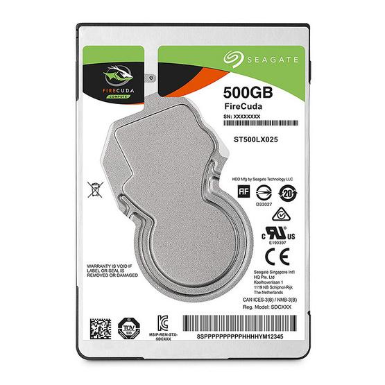 "Seagate FireCuda Mobile SSHD 2.5"" 5400 RPM 128MB SATA 6GB/s (ST500LX025) 500GB"