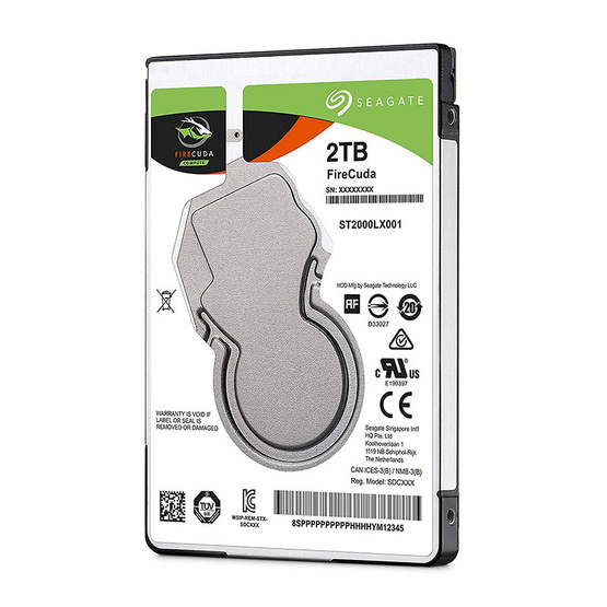 "Seagate FireCuda Mobile SSHD 2.5"" 5400 RPM 128MB SATA 6GB/s (ST2000LX001) 2TB"