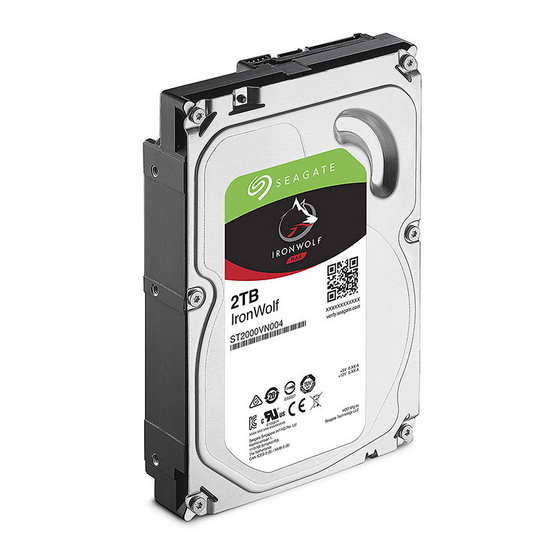 "Seagate IronWolf NAS HDD 3.5"" 5900 RPM 64MB SATA 6GB/s (ST2000VN004) 2TB"