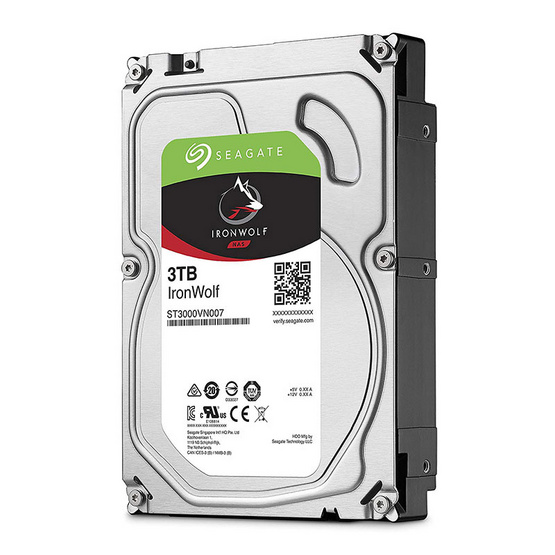"Seagate IronWolf NAS HDD 3.5"" 5900 RPM 64MB SATA 6GB/s (ST3000VN007) 3TB"