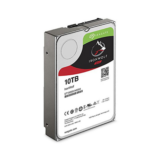 """Seagate IronWolf NAS HDD 3.5"""" 7200 RPM 256MB SATA 6GB/s (ST10000VN0004) 10TB"""