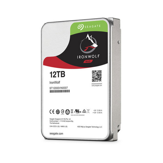 "Seagate IronWolf NAS HDD 3.5"" 7200 RPM 256MB SATA 6GB/s (ST12000VN0007) 12TB"