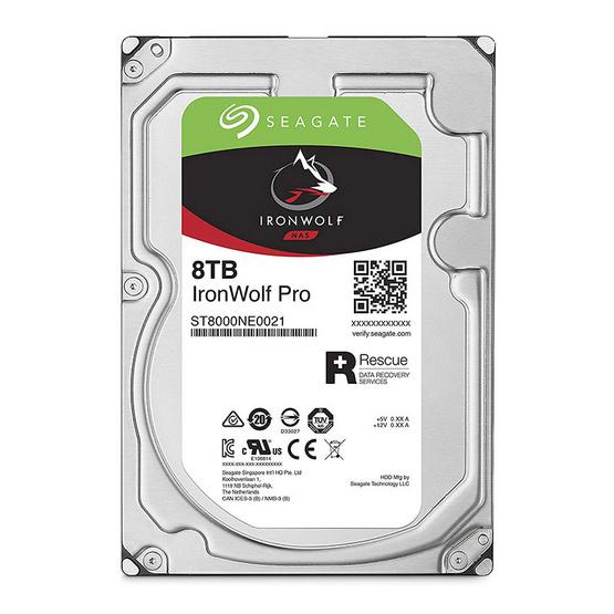 "Seagate IronWolf Pro NAS HDD 3.5"" 7200 RPM 256MB SATA 6GB/s (ST8000NE0021) 8TB"