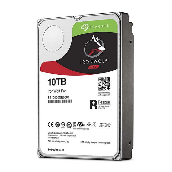"Seagate IronWolf Pro NAS HDD 3.5"" 7200 RPM 256MB SATA 6GB/s (ST10000NE0004) 10TB"