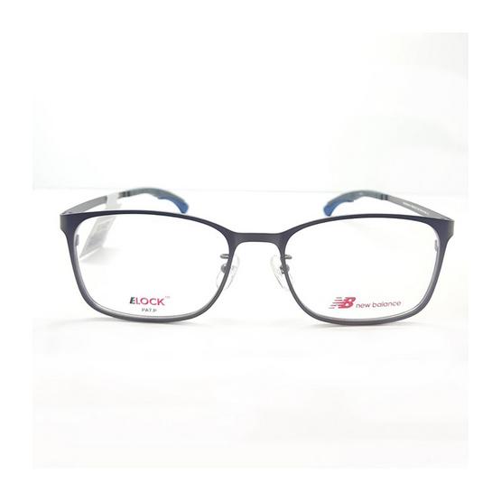 New balance กรอบแว่นตา Elock 05151z รหัสสี c02 สีคาร์บอน/ขาล็อคน้ำเงิน