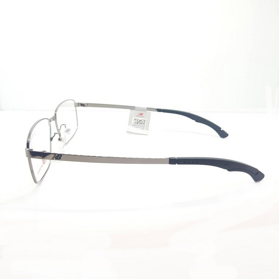 New balance กรอบแว่นตา Elock 05154z รหัสสี c02 สีเงินเงา/ขาล็อคดำ