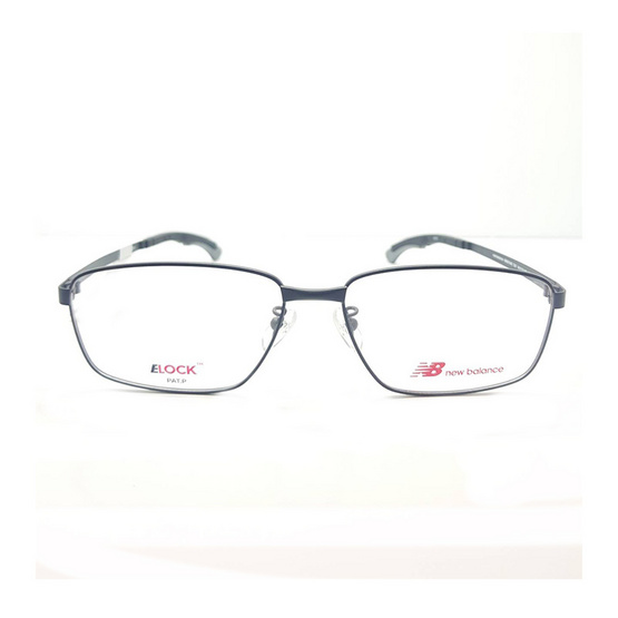 New balance กรอบแว่นตา Elock 05154z รหัสสี c01 สีดำด้าน/ขาล็อคเทา