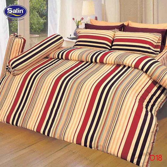 Satin ผ้าปูที่นอน5ฟุต5ชิ้น D18