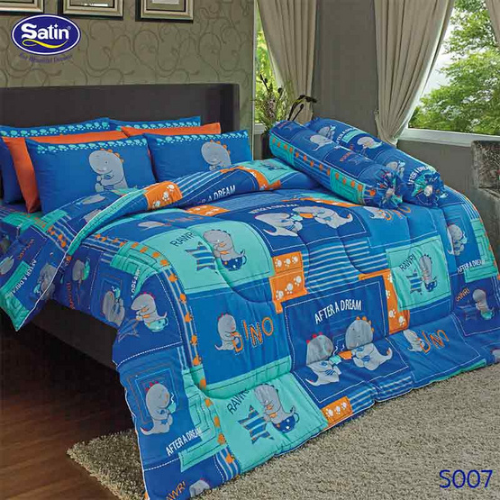 Satin ผ้าปูที่นอน 5 ฟุต 5 ชิ้น ลาย S007