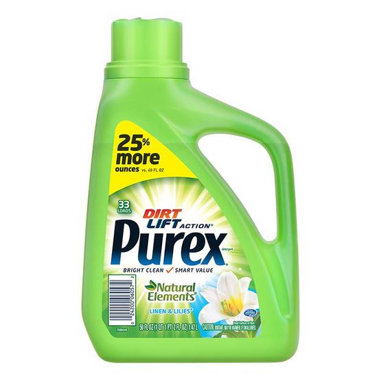 Purex เพียวเร็กซ์ น้ำยาซักผ้า กลิ่นลินิน แอนด์ ลิลลี่ 1.48 ลิตร