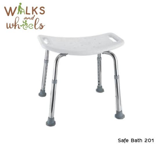 Walks and Wheels เก้าอี้นั่งอาบน้ำ แบบไม่มีพนักพิงหลัง รุ่น Safe Bath รหัส 201