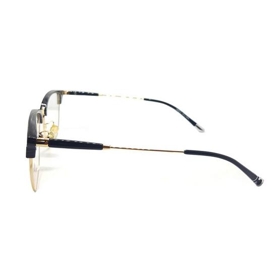 Mark william กรอบแว่นตา 9231 รหัสสี 12 สีดำเงาลายไม้/ทอง