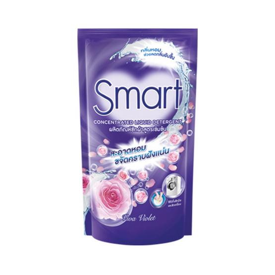 Smart ผงซักผ้า สูตรเข้มข้น กลิ่นวีว่า ไวโอเลต สีม่วง 700 มล.