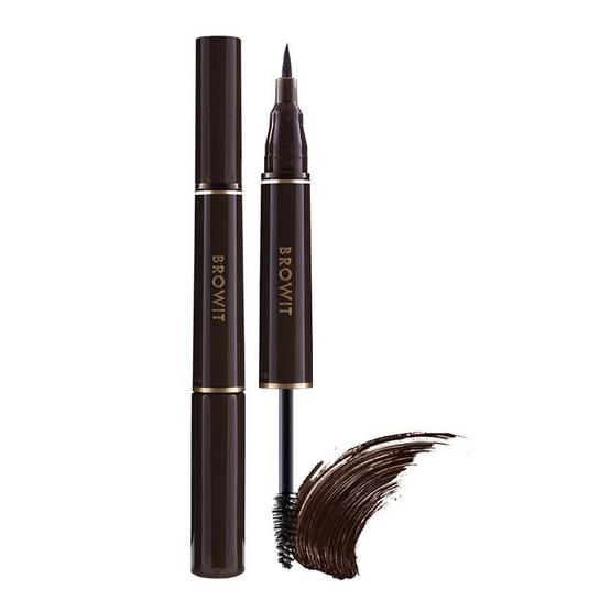 Browit Brow Salon Liquid and Cara บราวอิท ปากกาเมจิกเขียนคิ้วและมาสคาร่าปัดคิ้ว 1 ml + 3.5 g #Glam Night Brown