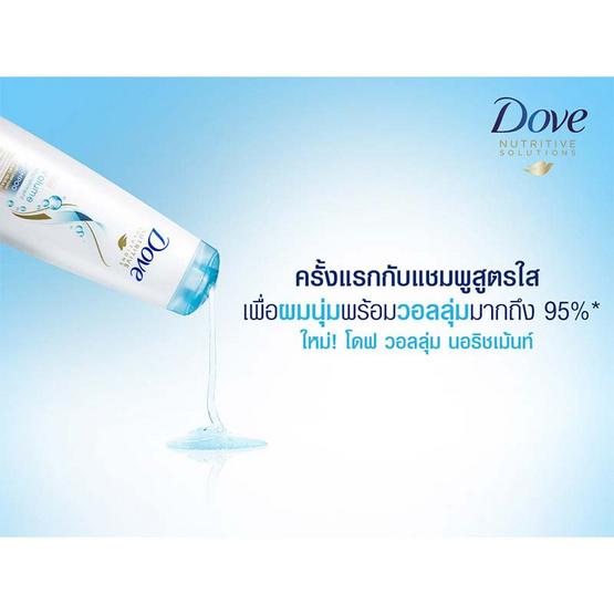 Dove แชมพู สูตรวอลลุ่ม นอริชเม้นท์ 480 มล. (บรรจุ 12 ขวด)