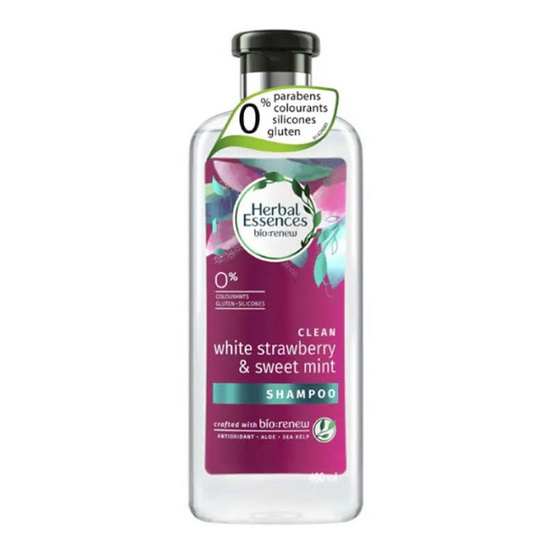 Herbal Essences แชมพู สูตรไวท์สตรอเบอรี่แอนด์สวีทมินท์ 400 มล.