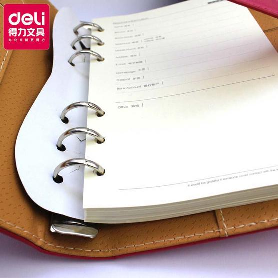 Deli เซ็ทสมุดปกหนัง + ปากกาเซ็นเช็คพร้อมกล่อง (คละสี)