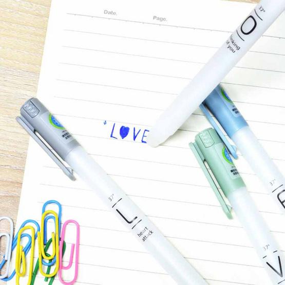 Aihao เซ็ทปากกาเจลลบได้ LOVE 4ด้าม + สมุดลายWindow B5 (คละลายคละสี)