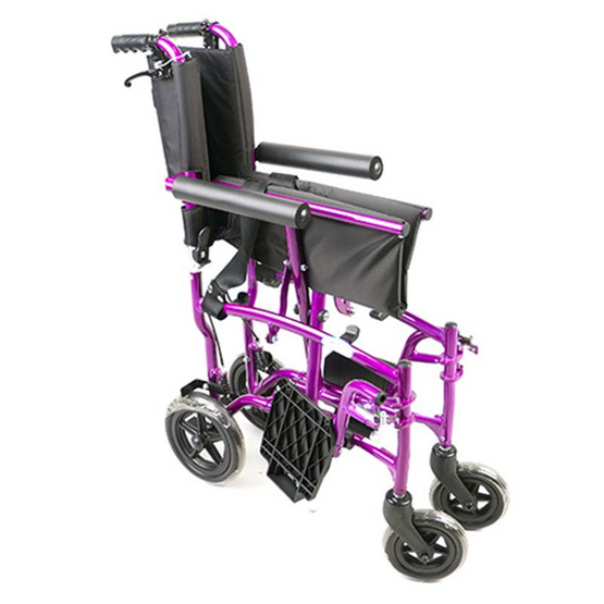 Agesup รถเข็นวีลแชร์ล้อกลาง 8 นิ้ว สำหรับผู้ป่วยและคนชรา พับได้แบบพกพา รุ่น Travel1