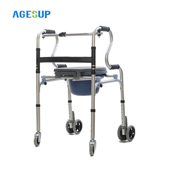 Agesup วอคเกอร์ ไม้เท้าหัดเดินแบบมีเก้าอี้นั่งถ่ายอเนกประสงค์ สีฟ้า รุ่น ไอริส