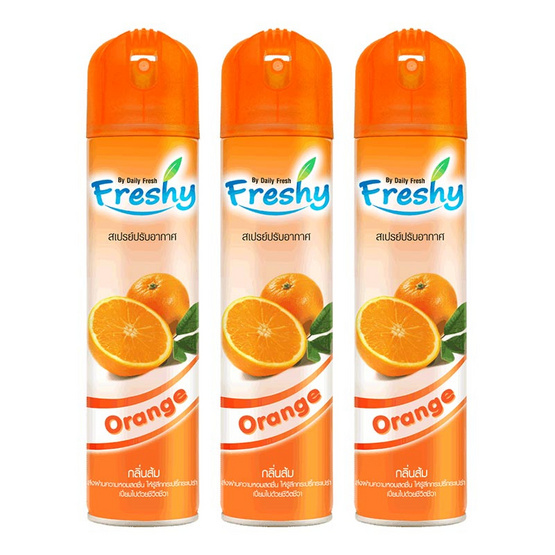Freshy เสปรย์ปรับอากาศ กลิ่นส้ม 300 มล. (แพ็ค3)