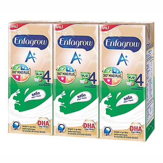เอนฟาโกร เอพลัส 360 ดีเอชเอ พลัส 4 ยูเอชที รสจืด 180 มล. (12 กล่อง)