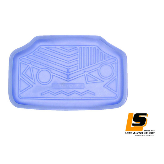 LEOMAX ถาดปูพื้นพลาสติก PVC ด้านหลัง เฉพาะรถกระบะ SPACE CAB รุ่น Spirit Lion (สีฟ้าใส)