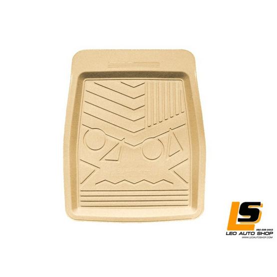 LEOMAX ถาดปูพื้นพลาสติก PVC รุ่น SPIRIT LION ชุด 4 ชิ้น (สีครีม)