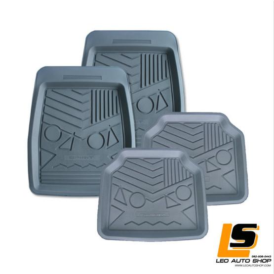 LEOMAX ถาดปูพื้นพลาสติก PVC รุ่น SPIRIT LION ชุด 4 ชิ้น (สีเทา)