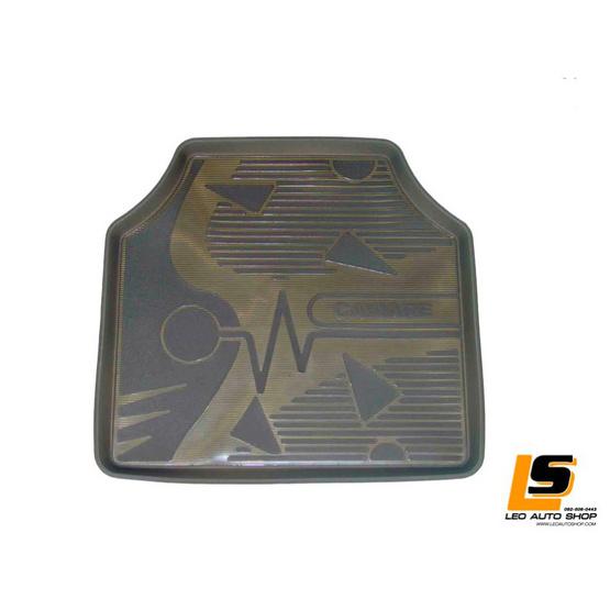 LEOMAX ถาดปูพื้นพลาสติก PVC ด้านหน้า รุ่น CAVIARE STD ชุด 4 ชิ้น (สีดำใส)