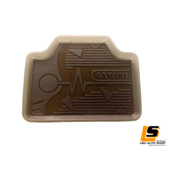 LEOMAX ถาดปูพื้นพลาสติก PVC ด้านหน้า รุ่น CAVIARE ECO ชุด 4 ชิ้น (สีดำใส)