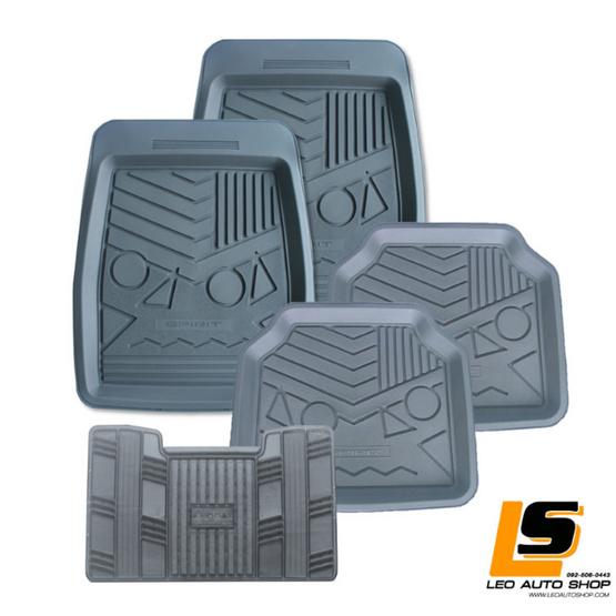 LEOMAX ถาดปูพื้นพลาสติก PVC รุ่น SPIRIT LION ชุด 5 ชิ้น (สีเทา)