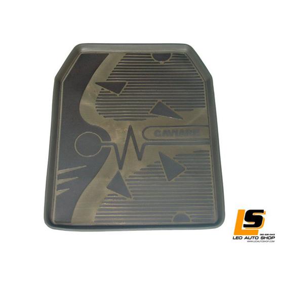 LEOMAX ถาดปูพื้นพลาสติก PVC รุ่น CAVIARE ECO ชุด 5 ชิ้น (สีดำใส)