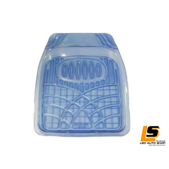 LEOMAX ชุด 5 ชิ้นถาดปูพื้นพลาสติก PVC รุ่น SKYLINE ECO (สีฟ้าใส)