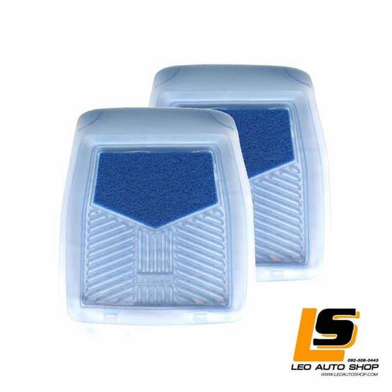 LEOMAX ถาดปูพื้นพลาสติก PVC+ใยไวนิล รุ่น LION KING ด้านหน้า สีฟ้าใส-ใยน้ำเงิน