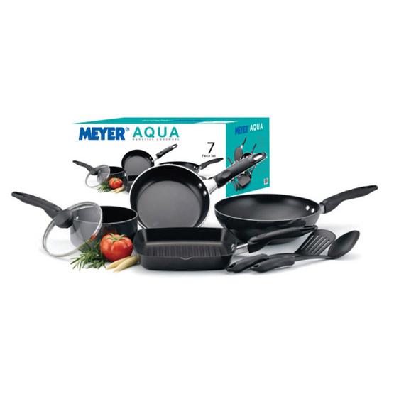 Meyer Aqua ชุดเครื่องครัว 7 ชิ้น สีเทอควอยซ์