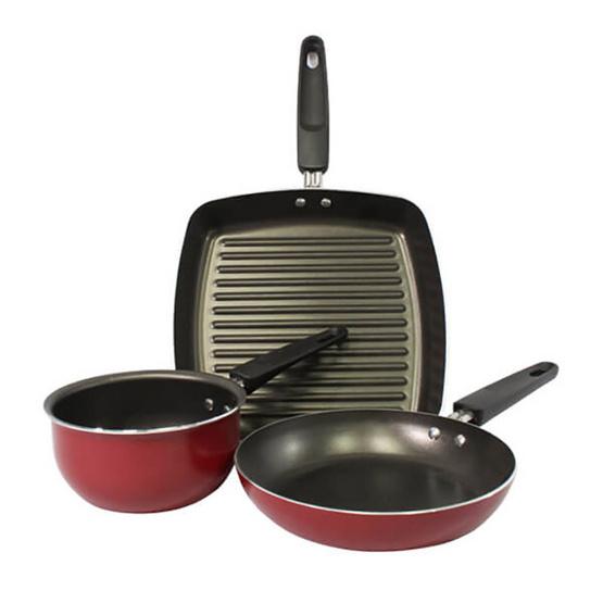 Meyer Value Pack ชุดเครื่องครัว 3 ชิ้น สีแดง