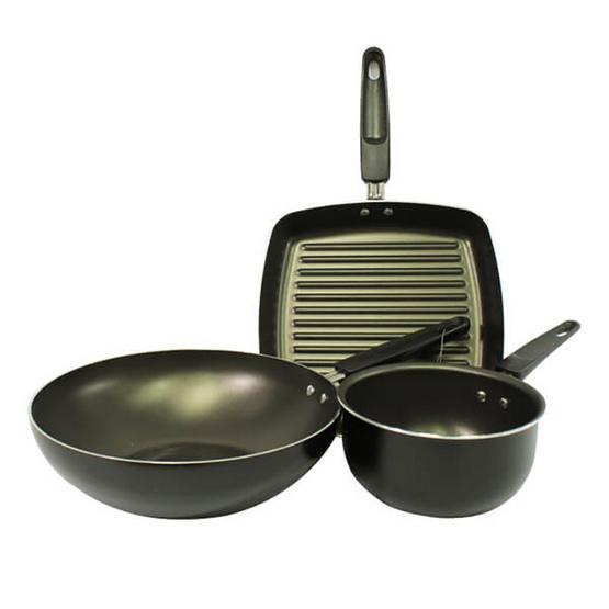 Meyer Value Pack ชุดเครื่องครัว 3 ชิ้น สีดำ
