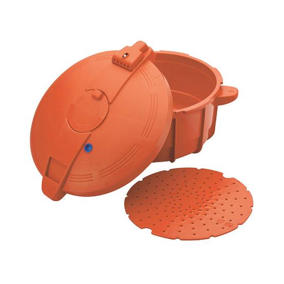 Prestige หม้ออัดแรงดันไมโครเวฟ ขนาด 2.2 ลิตร สีส้ม
