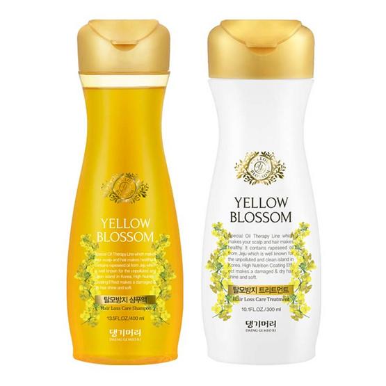 Daeng Gi Meo Ri แชมพู & ทรีทเม้นท์ Yellow Blossom Anti Hair Loss (400 ml + 300 ml)