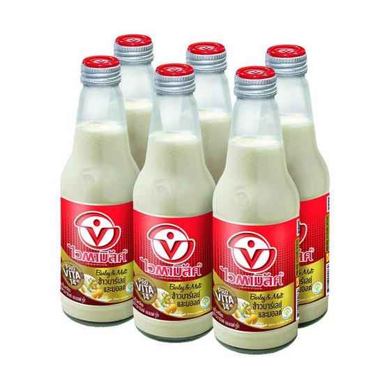ไวตามิ้ลค์ น้ำนมถั่วเหลือง สูตรข้าวบาร์เลย์และมอลต์ ทูโก 300 มล. (แพ็ก6)