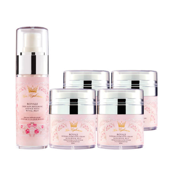 Her Highness Intense Hydrating Cream with Royal Jelly 30 ml (4 pcs)and Deep Skin Restoring Essence 30 ml
