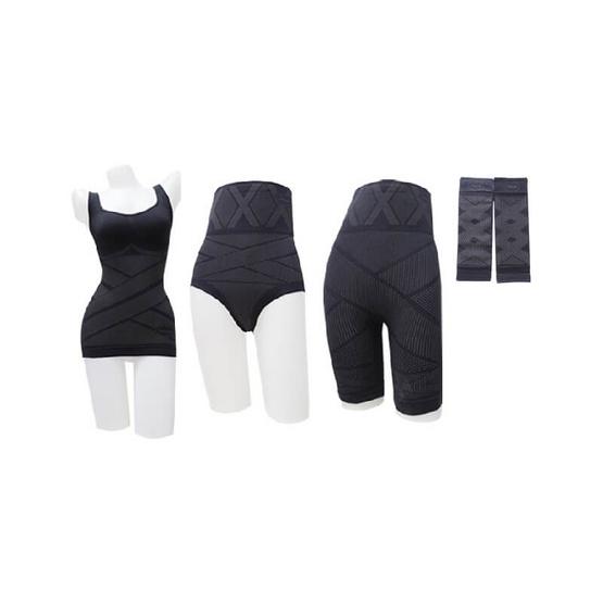 Onami X-Slender สีดำ1ชุด 5ชิ้น  ฟรี Onami Charcoal 1ชุด 5ชิ้น
