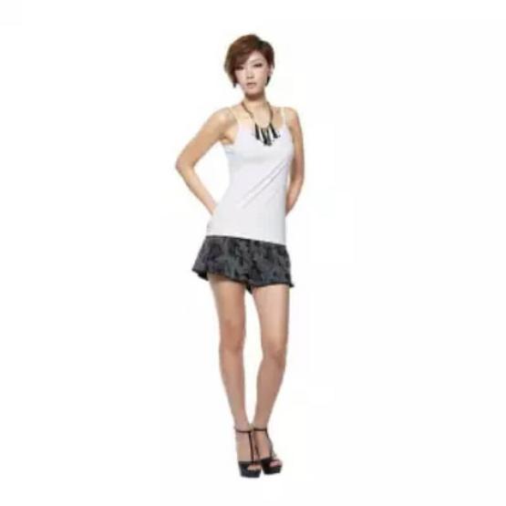 NP-EC-J Sleeve Shirt เสื้อสายเดี่ยว สีขาว