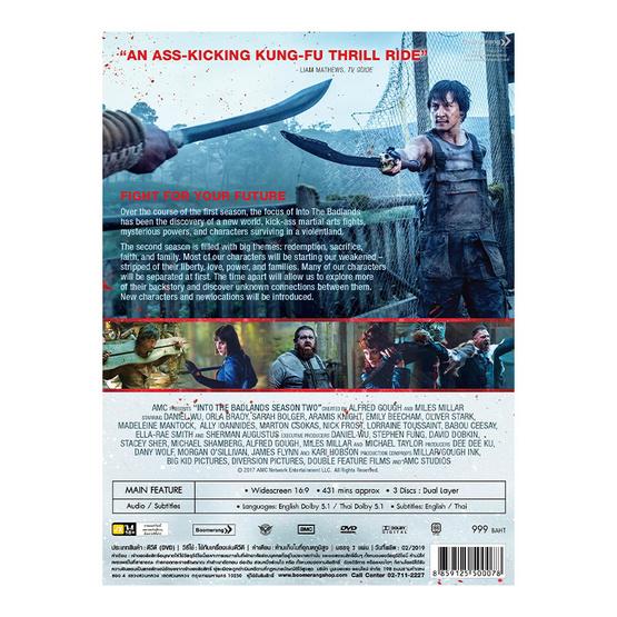 DVD Boxset Into the Badlands Season2 (3 Disc)