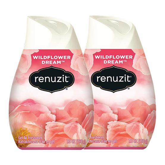 Renuzit รีนูซิต เจลปรับอากาศ กลิ่นไวลด์ฟาวเวอร์ดรีม 198 กรัม (2 ชิ้น)