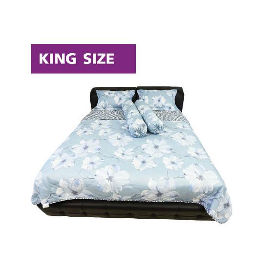 Serrano ชุดผ้าปูที่นอนลาย Serene Blue Flora (King size)