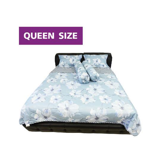 Serrano ชุดผ้าปูที่นอนลาย Serene Blue Flora (Queen size)